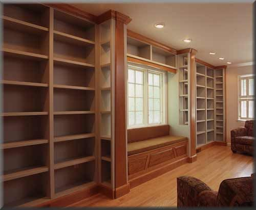 Inspiration Home Library With Window Seat Window