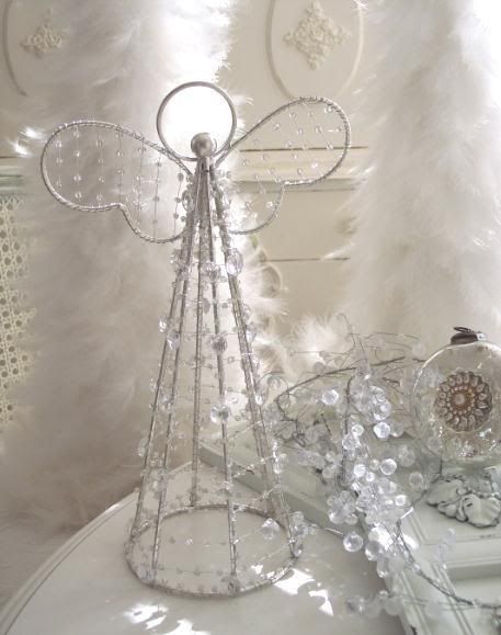 how to make a beaded and lace christmas angel