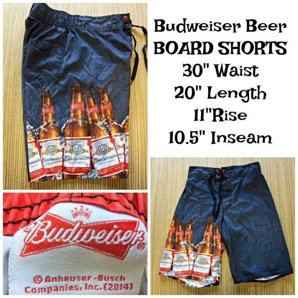ff412a2b5ccae BUDWEISER BEER Men's Size 30 Board Short Style SWIM TRUNKS Beach Beer  Bottles #Budweiser #BoardShorts