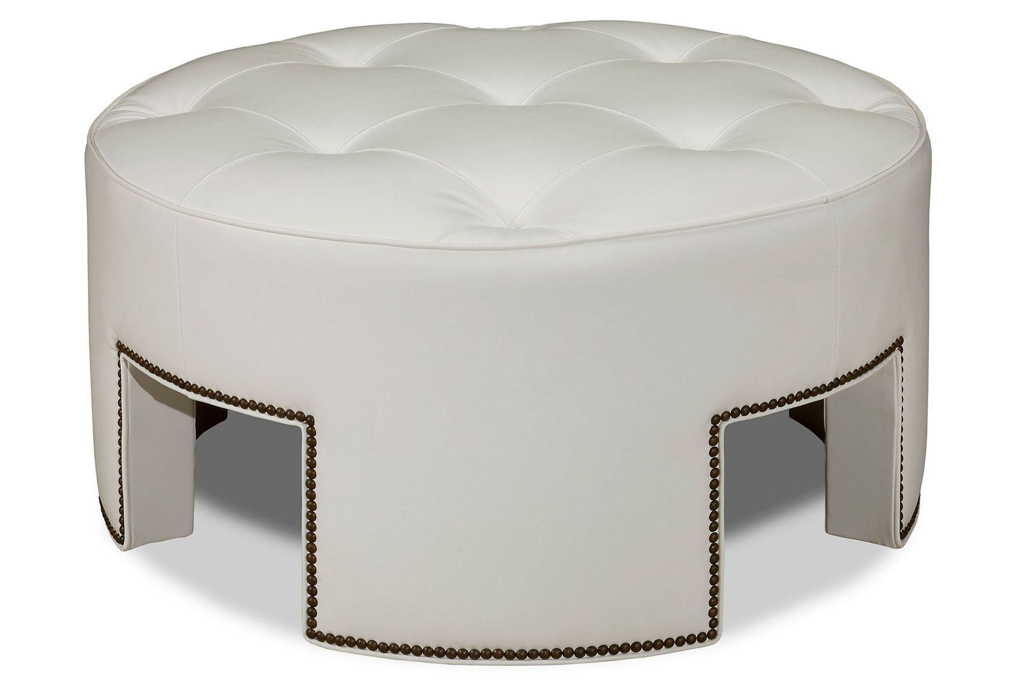 One Kings Lane - Warm Up to White - Anthony Cocktail Ottoman ...