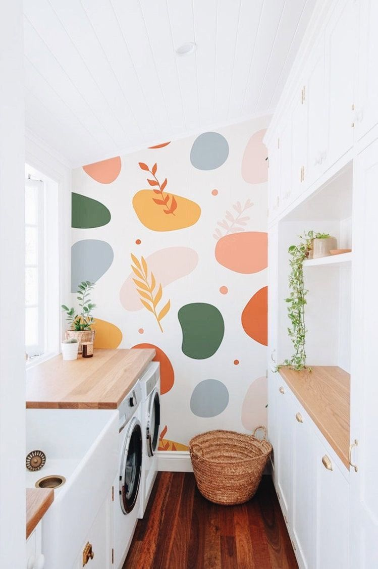 Contemporary Peel and Stick Wallpaper | Color shap
