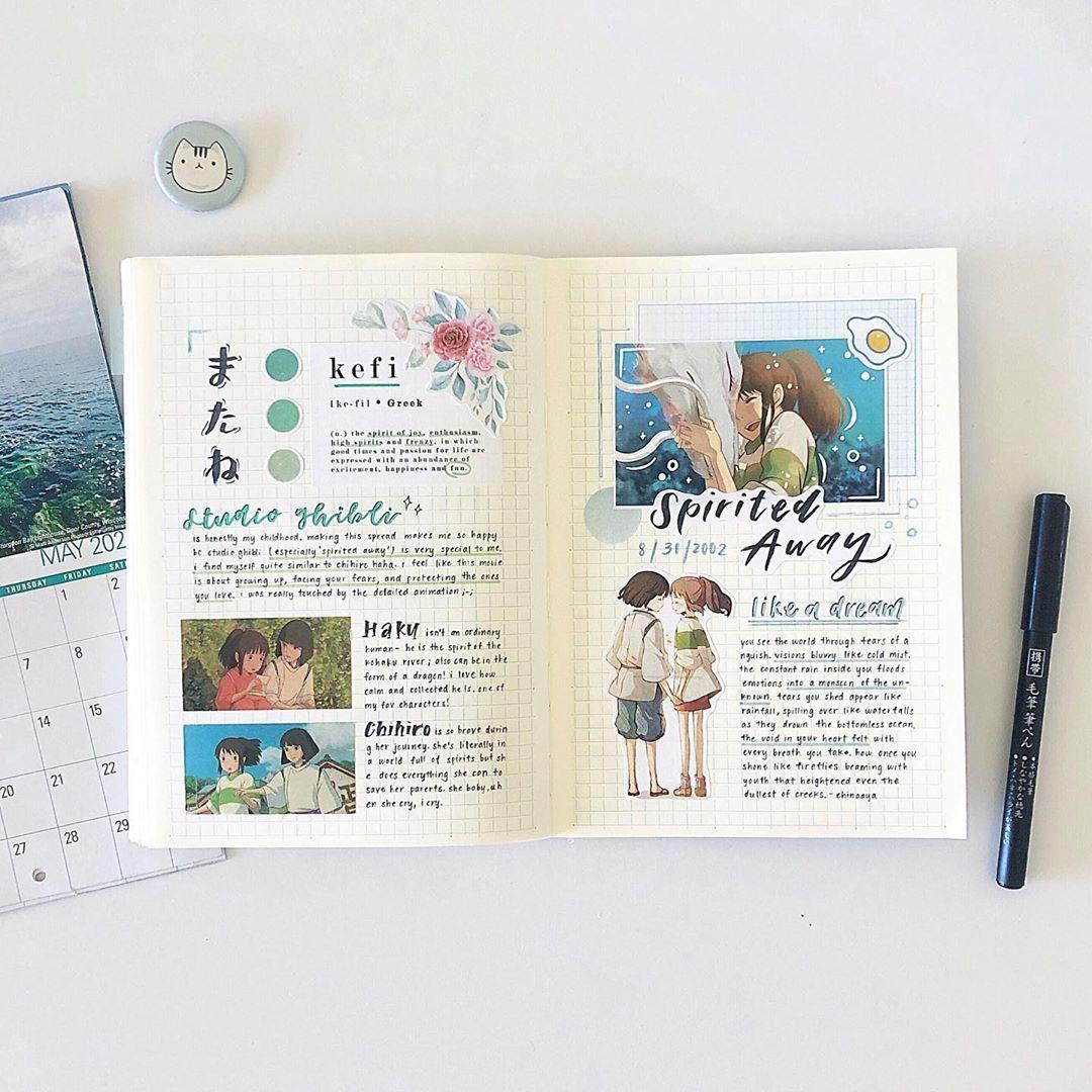 𝙚𝙪𝙣𝙖 유나 On Instagram Spirited Away Was Literally My Childhood Not My Favorite In 2020 Bullet Journal Ideas Pages Bullet Journal Diy Bullet Journal Books