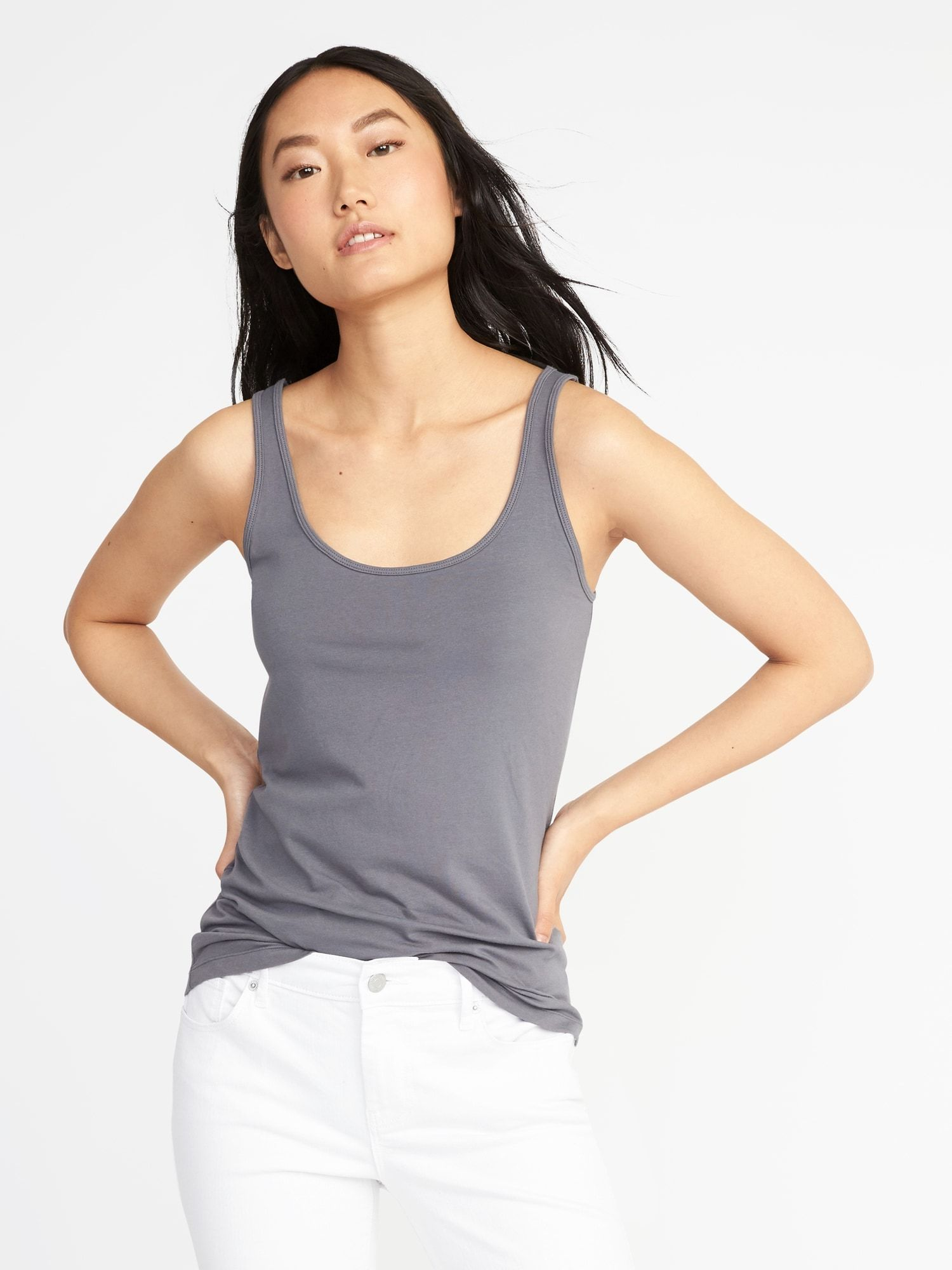 Firstlayer fitted tank for women layering tank tops