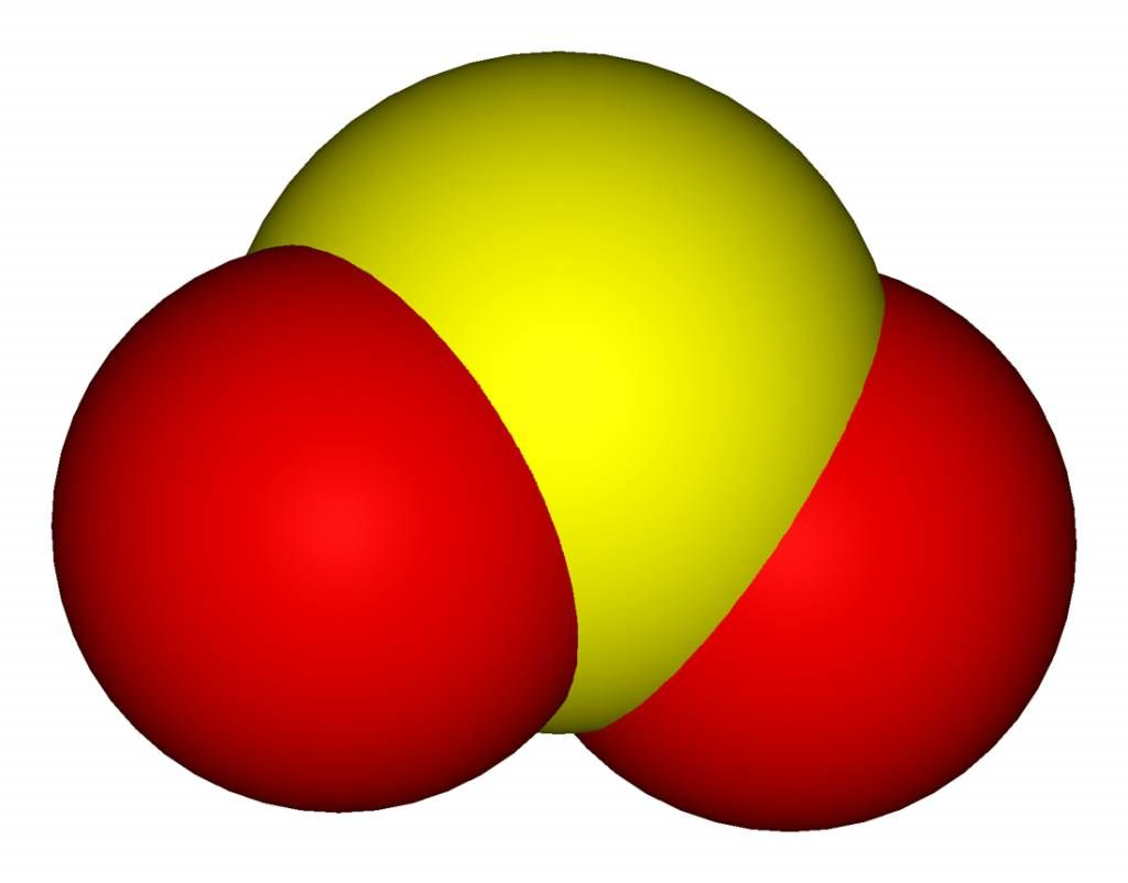 Sulfur Dioxide Molecule