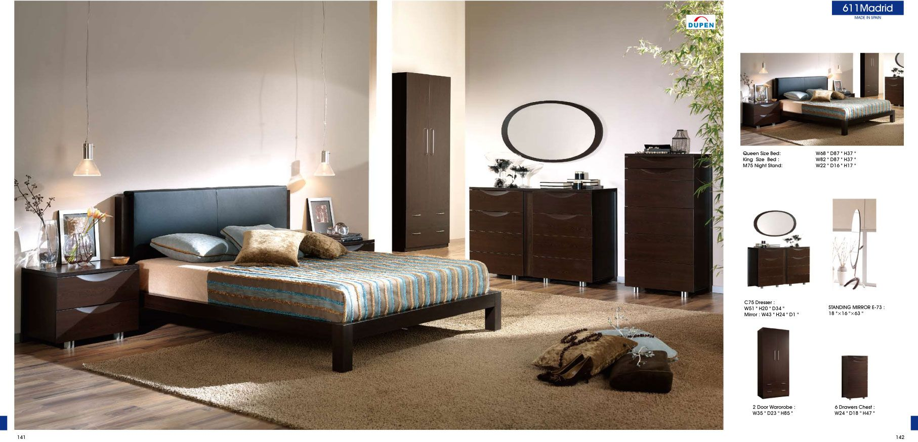 Lovely Bedroom Furniture Modern Bedrooms 611 Madrid, M75, C75