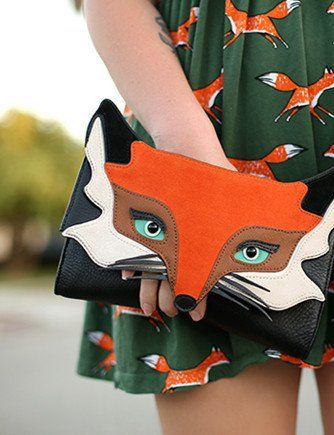 Kate Spade New York Blaze A Trail Fox Clutch Fox Face Kate