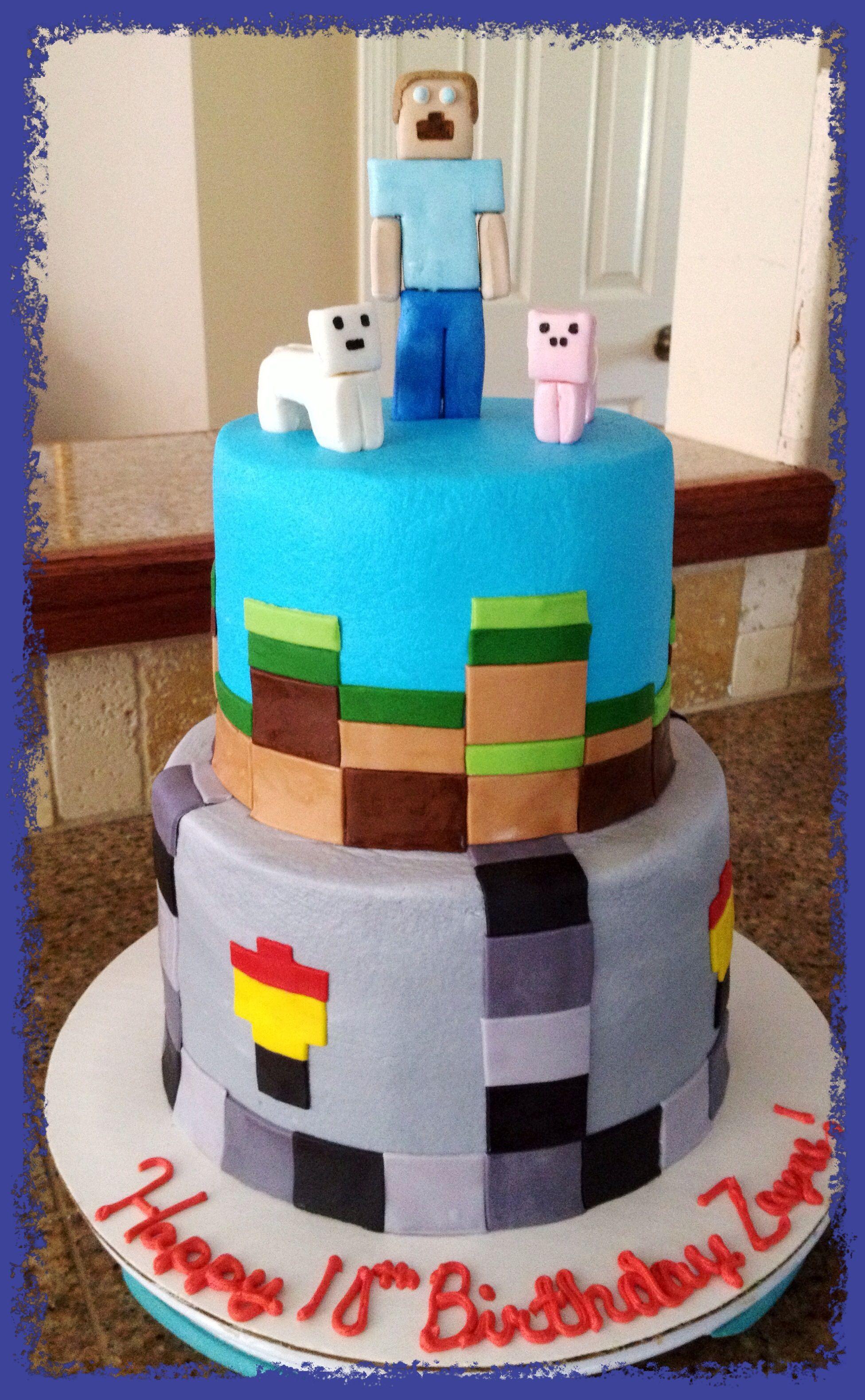 Minecraft Birthday Cake Bake Your Day Llc Alexandria La Www