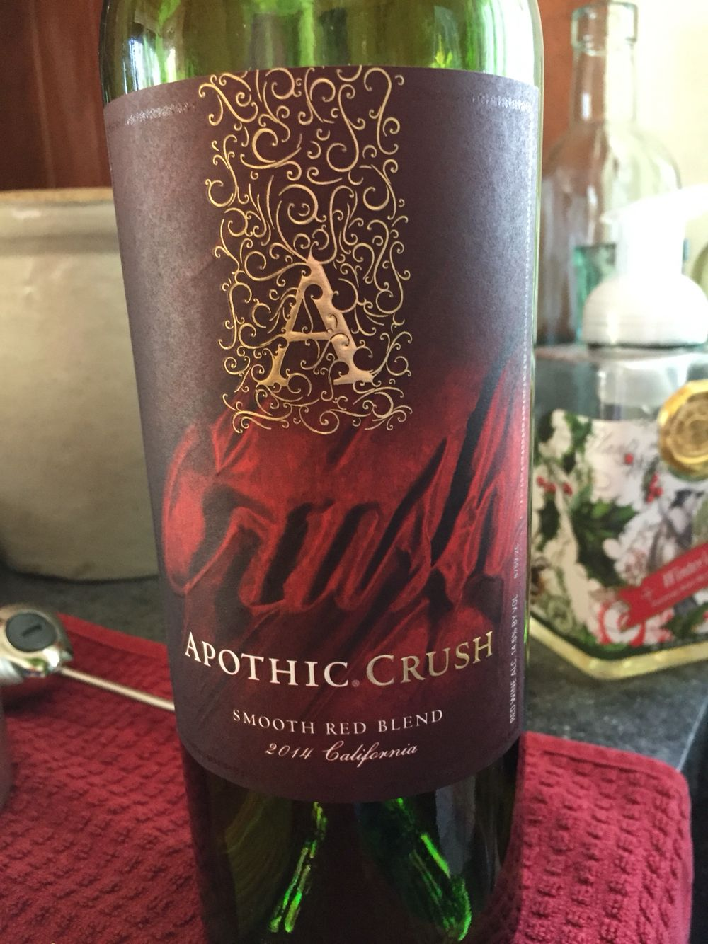Apothic Crush Smooth Red Blend 2014 Cali Good 7 10 Blend Not Identified Why Now I M Hesitant Wine Down Wine Bottle Wine
