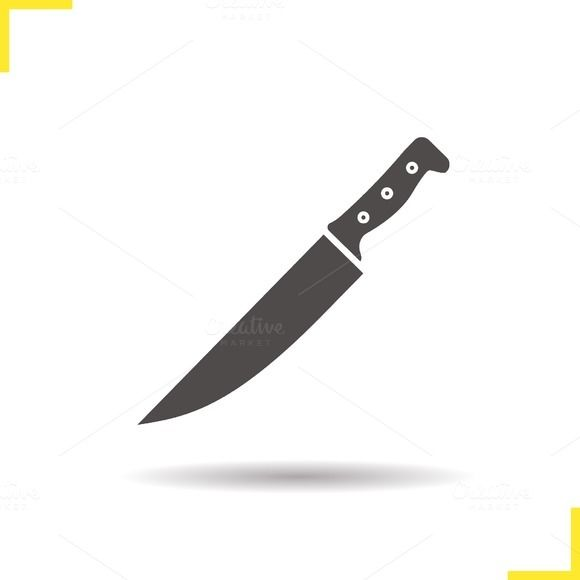 Chef S Knife Icon Vector Knife Tattoo Culinary Tattoos Knife Logo