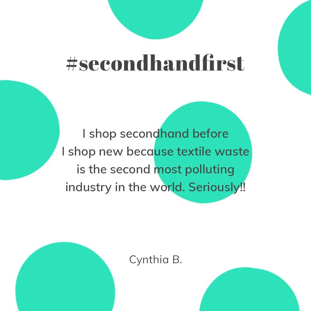 Cynthia Shops Secondhand For The Planet Second Hand Clothes Hand Quotes Thrift Fashion