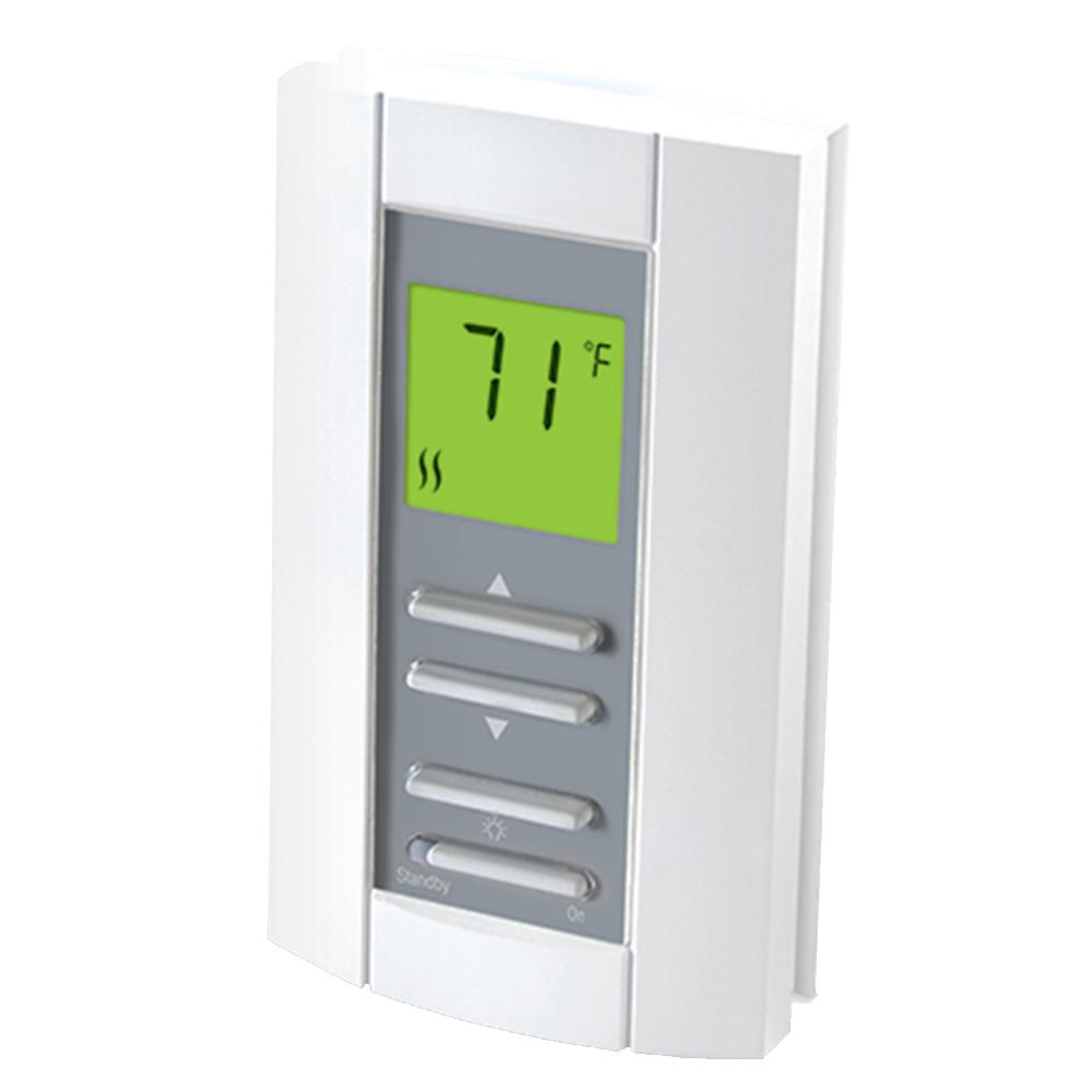 Cadet Double Pole 15 Amp 208 240 Volt Digital Electronic Non Programmable Wall Thermostat In White Th114 The Home Depot In 2020 Home Thermostat Thermostat Programmable Thermostat