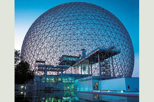 Biosph re la sphere parfaite exposition universelle de for Architecture utopiste