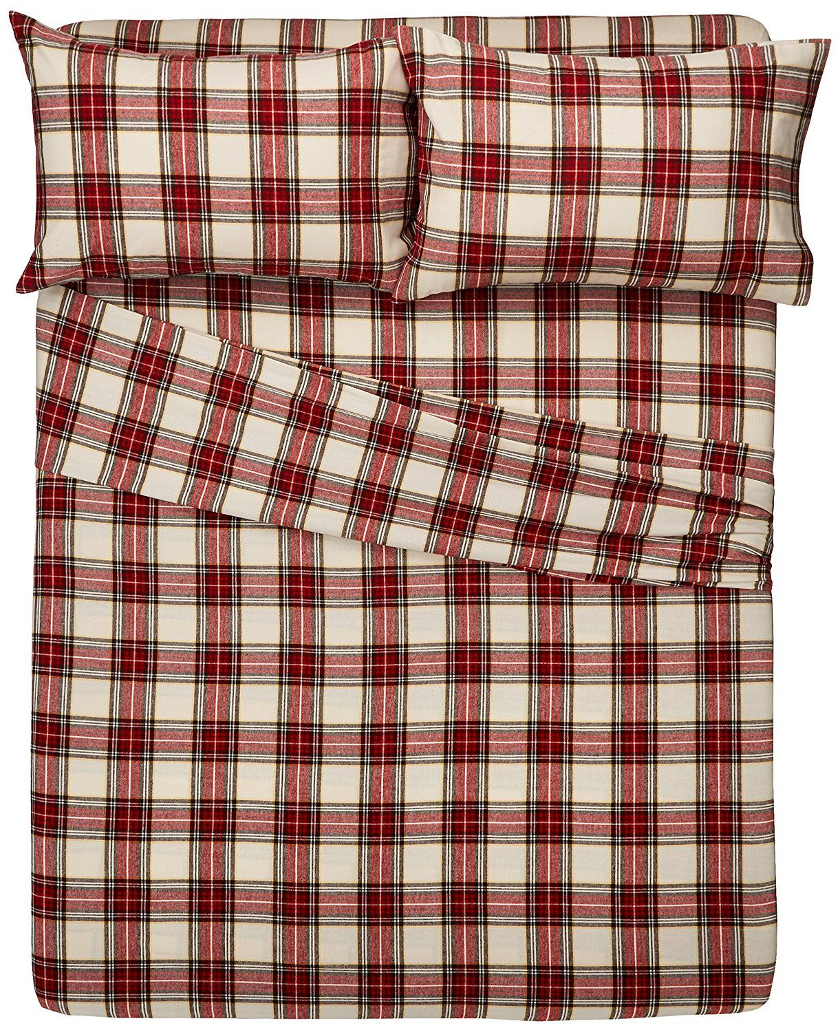 The Best Flannel Sheets Review 2017 Pinzon 160 Gram Plaid Velvet