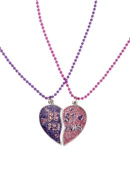 Justice Friendship Necklaces At Justice Bff Heart Necklaces Two Necklaces That Together Create Bff Jewelry Bff Necklaces Best Friend Jewelry