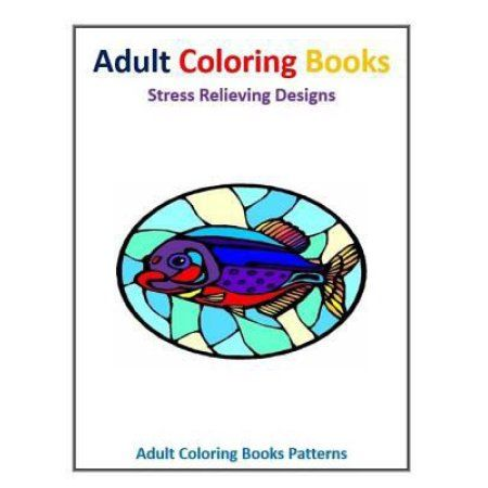 Glass Fish Stained Stress Relief Design Adult Coloring Books Patterns