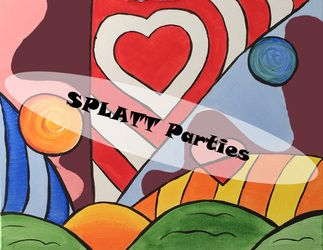Painting inspired by Britto Party - Splatt Parties
