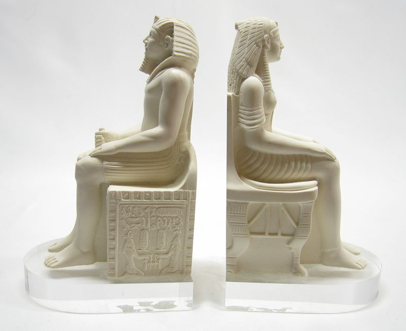 seated pharaoh and wife