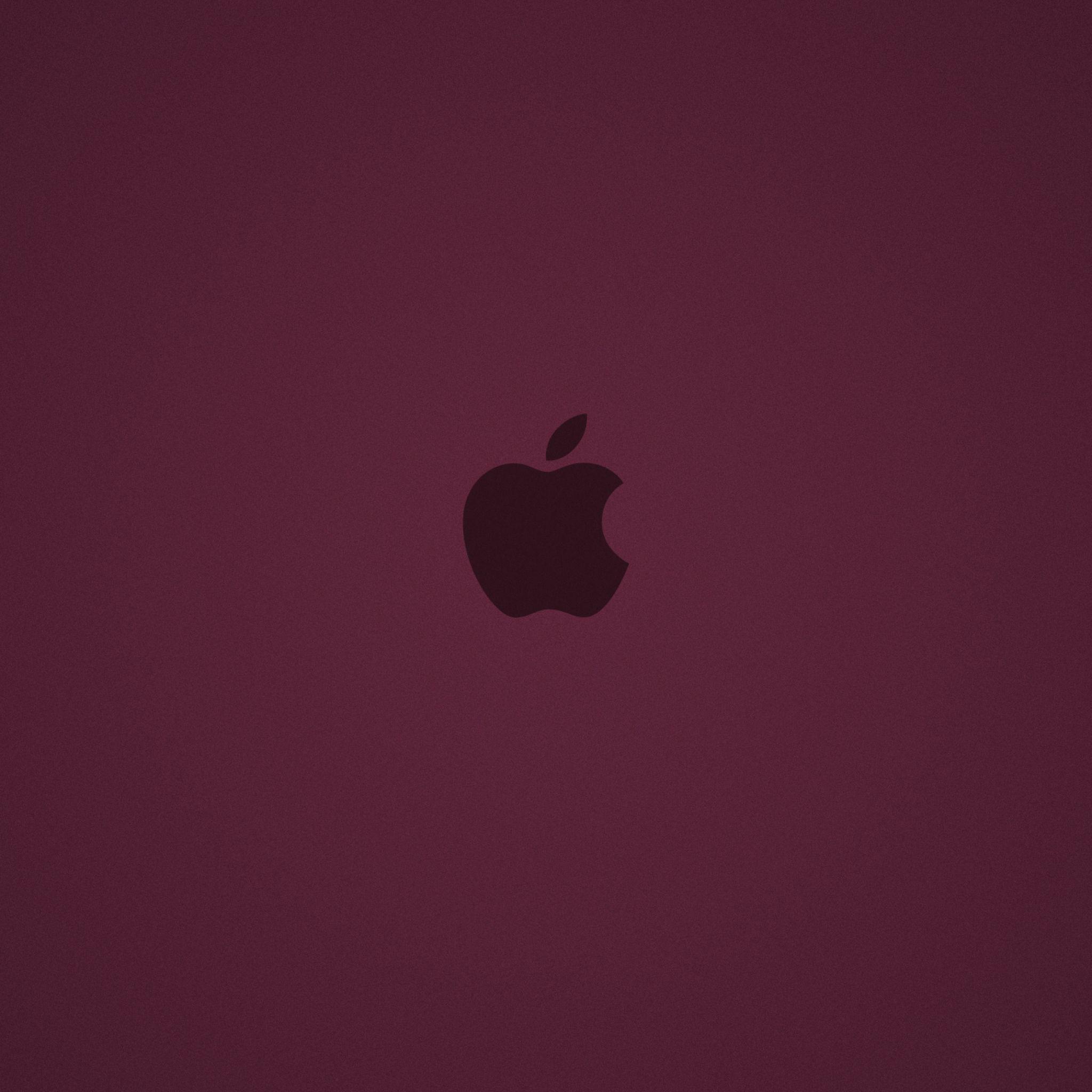 2048x2048 wallpaper apple, mac, brand, background, logo, dark