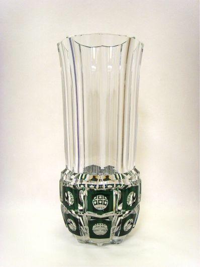 salle des ventes abc cristal val saint lambert important vase en cristal taill et doubl. Black Bedroom Furniture Sets. Home Design Ideas