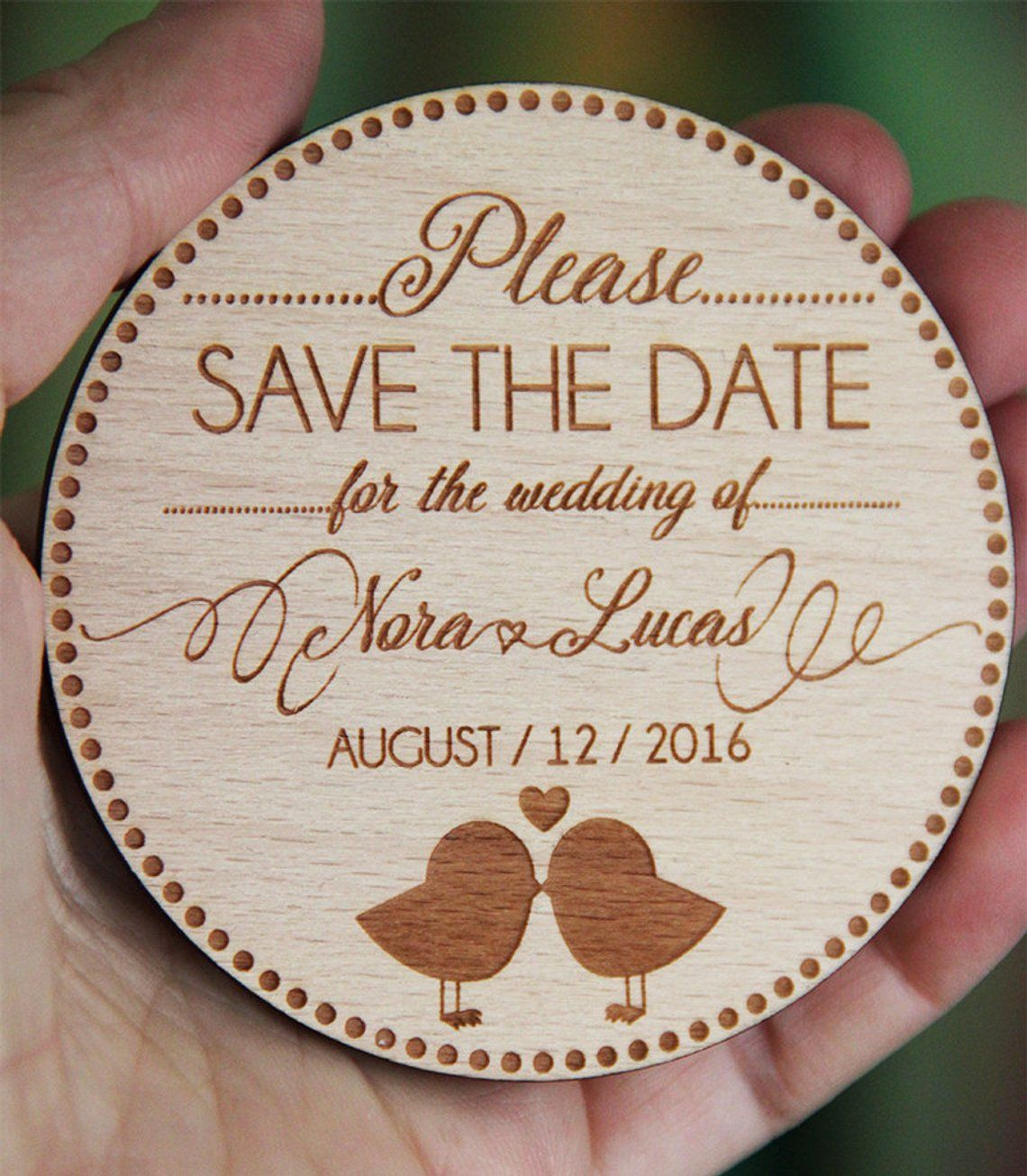 Save the Date Wooden Save the Date Save