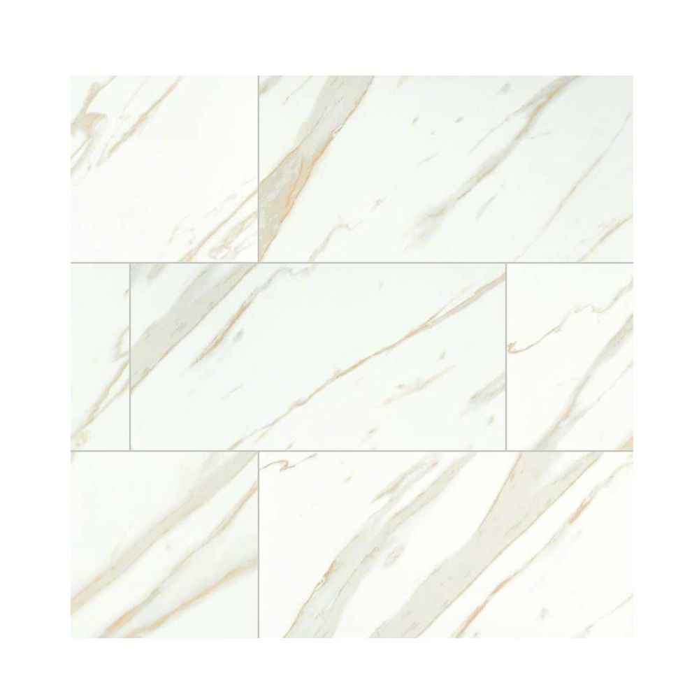 The soft white background and gold veins of classique white the soft white background and gold veins of classique white calacatta beveled glossy 4x16 ceramic tiles doublecrazyfo Choice Image