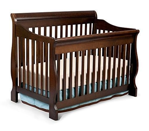 4 in 1 Convertible Crib Nursery Furniture Toddler Bed Full Size Espresso Cherry - Best Baby Cribs