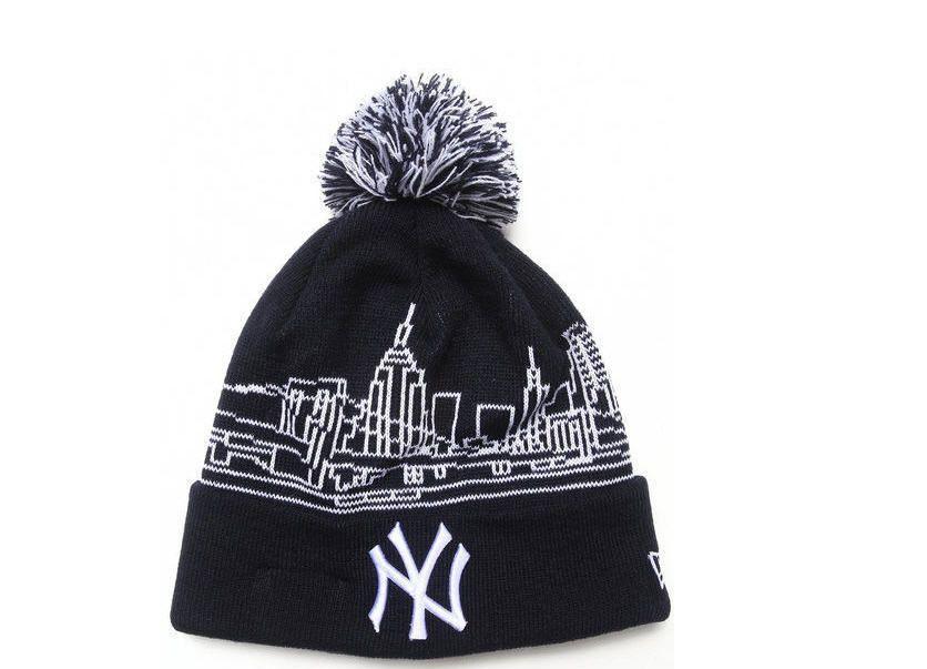 Authentic Mlb New Era New York Yankees Skyline Wrapz Knit Hat The City Nwt Black Newyorkyankees Knitted Hats New York Yankees Hats