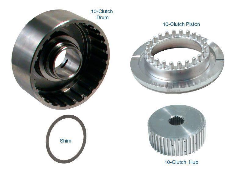 POWERGLIDE 10-CLUTCH DRUM, HUB & PISTON KIT