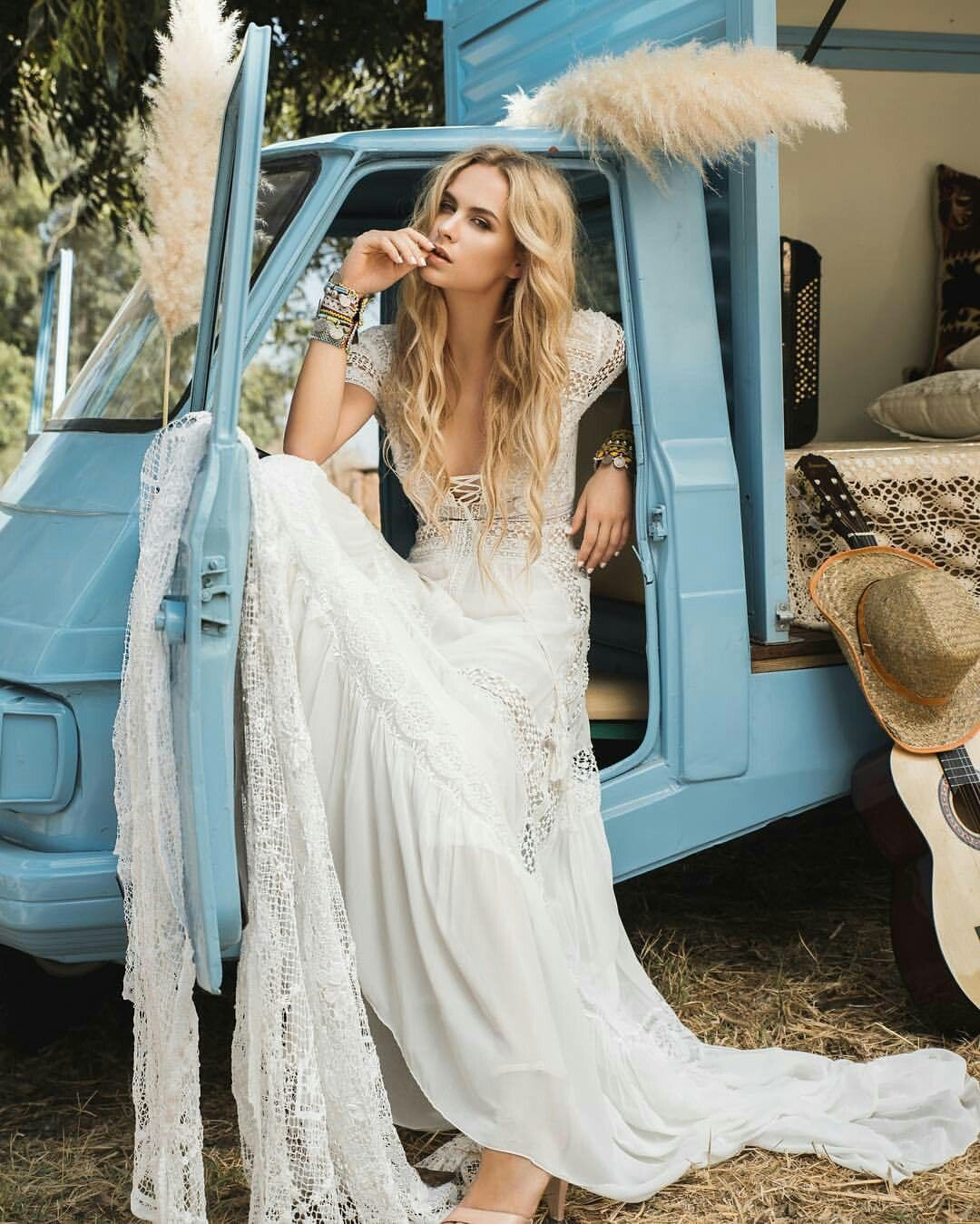 Bohemian wedding dress by inbal taviv | boho | Pinterest | Bohemian ...