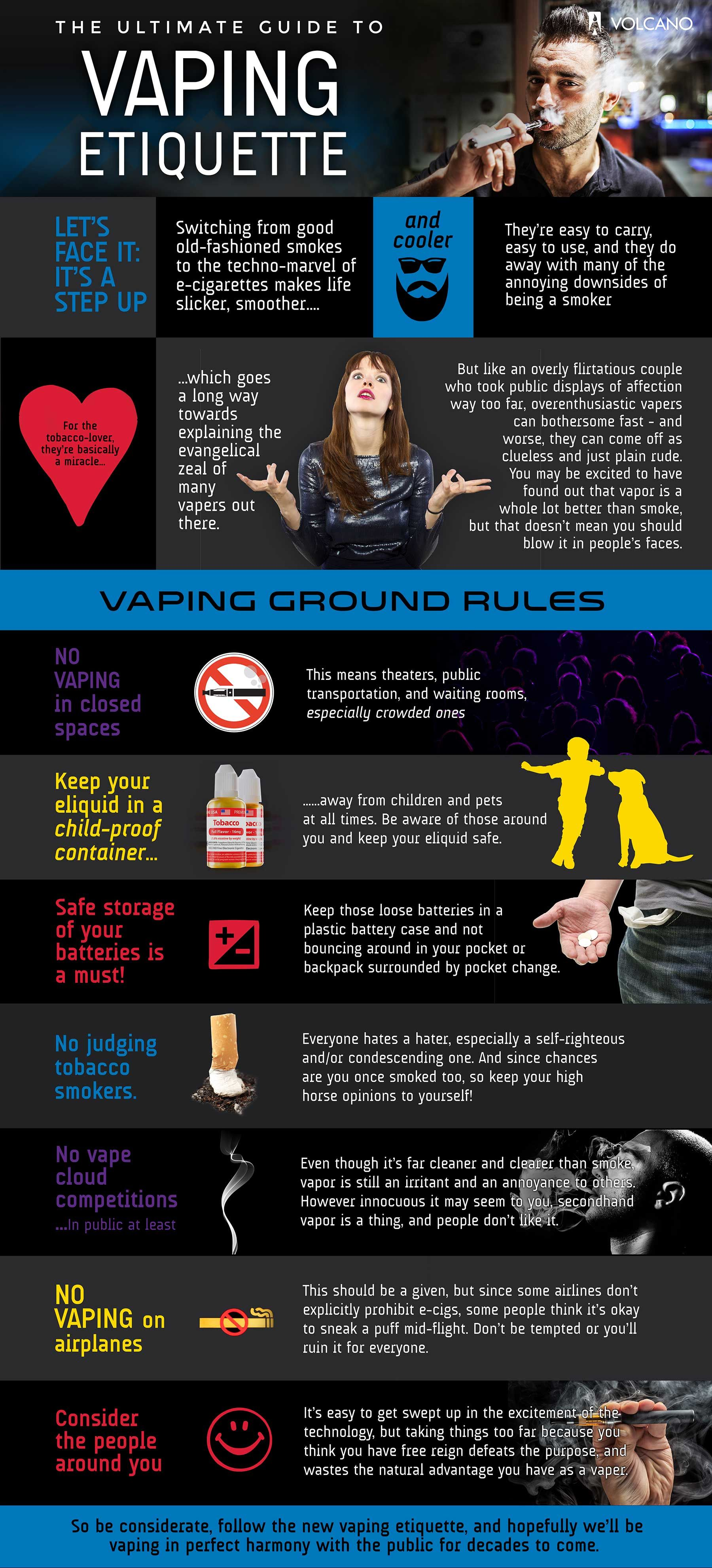 Ultimate Guide To Vaping Etiquette Ucollect Infographics Vape The Monthly Circuit Building Kit Infographic