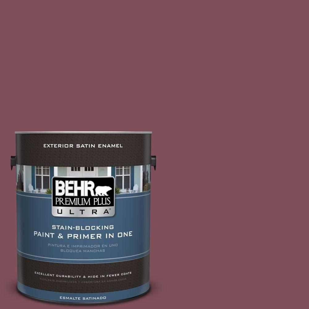 BEHR Premium Plus Ultra Home Decorators Collection 1-gal. #hdc-CL-02 Fine Burgundy Satin Enamel Exterior Paint