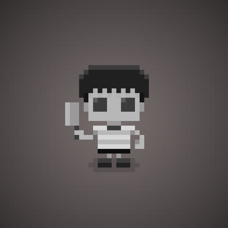 "Famous Characters In Pixel Art • Pugsley Addams From ""the"