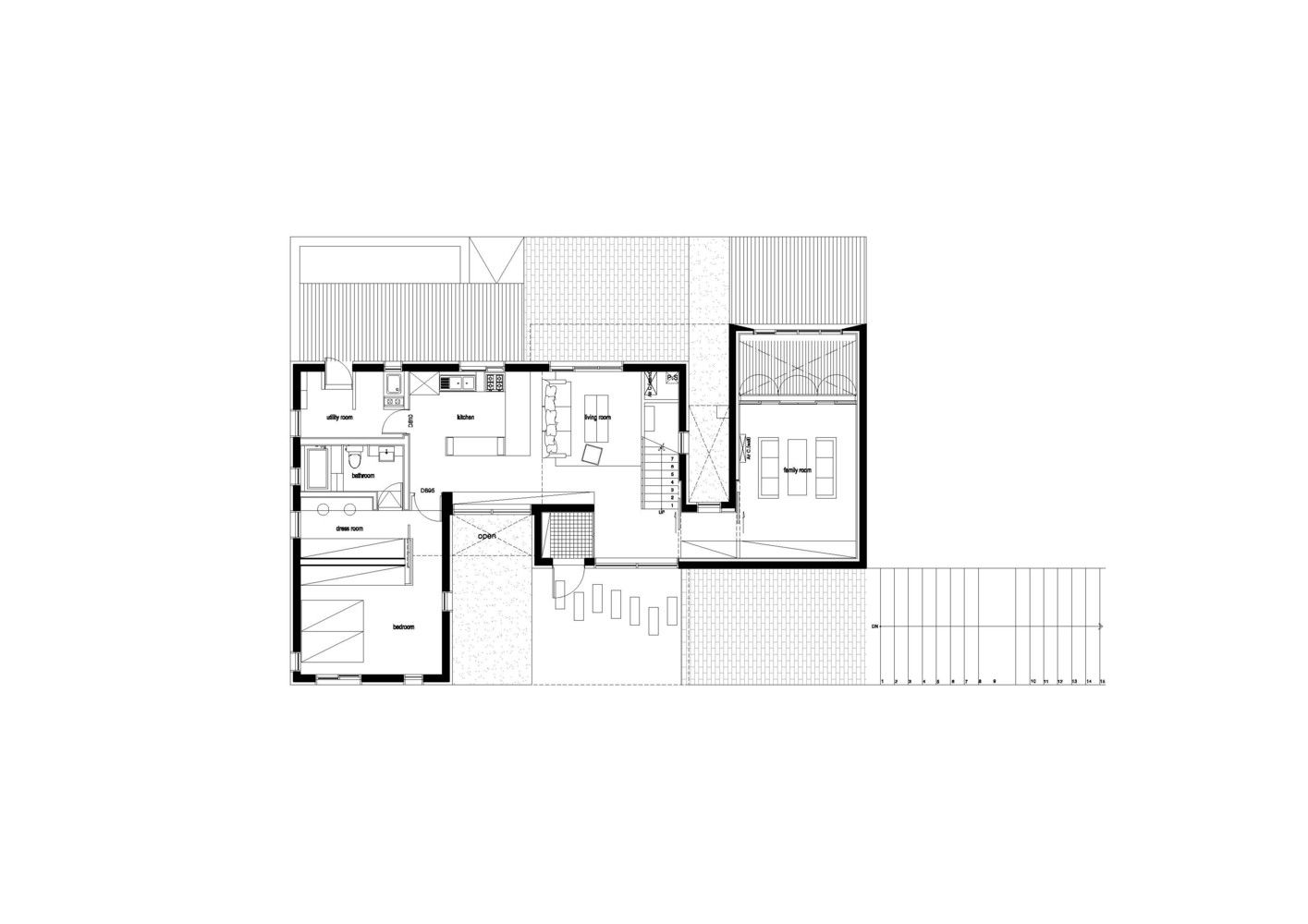 Gallery Of Living Knot Polymur 24 Architecture Ground Floor Plan Floor Plans