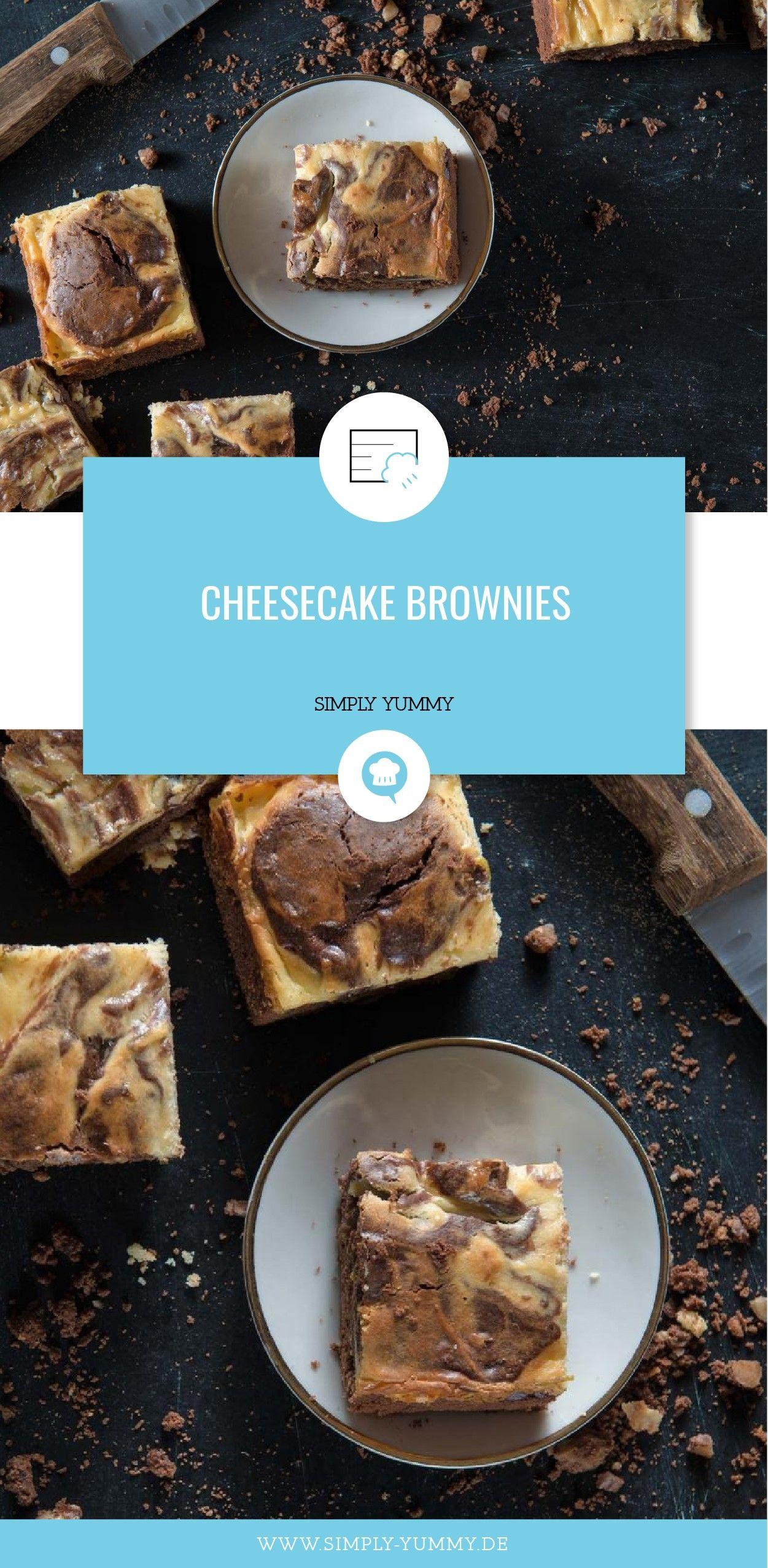 Cheesecake Brownies | Receta | Pinterest