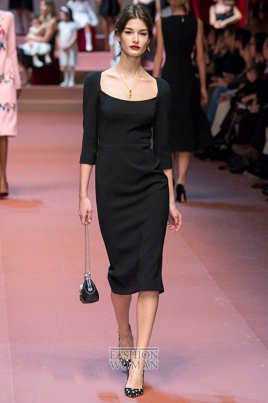 Платье дольче габбана черное