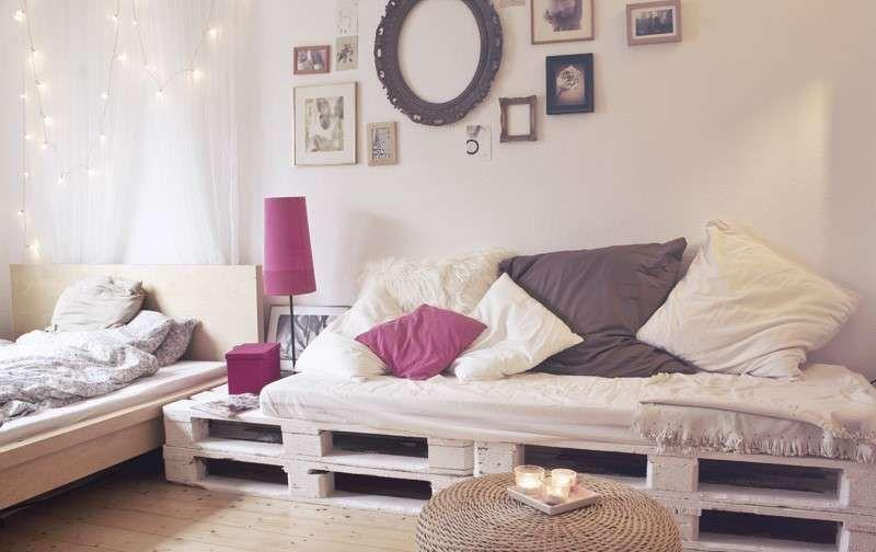 Pallet divano ~ Un divano con i pallet come costruire un divano con pallet