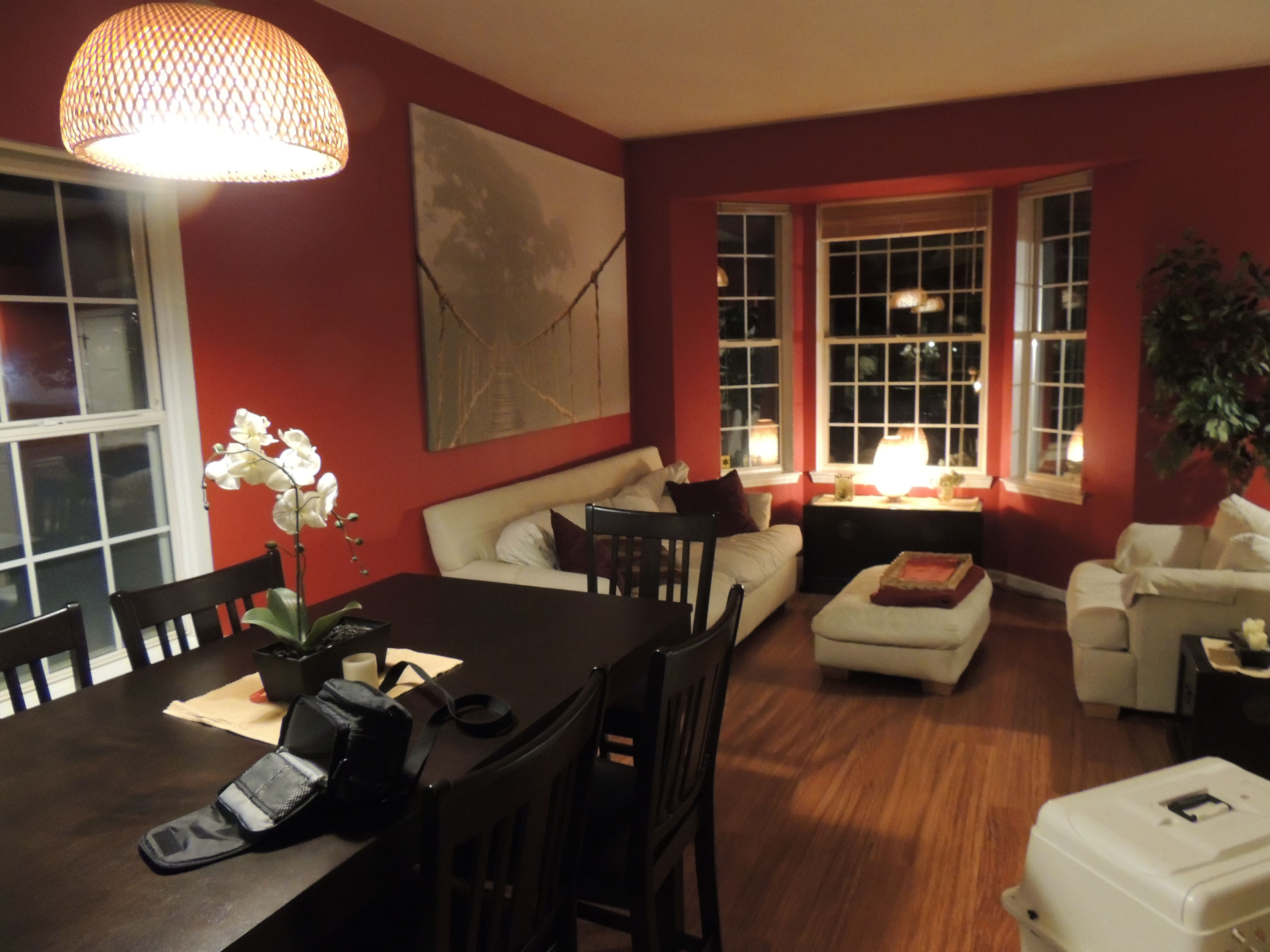 Red Living Room Curated By Modern Paint Floors 102