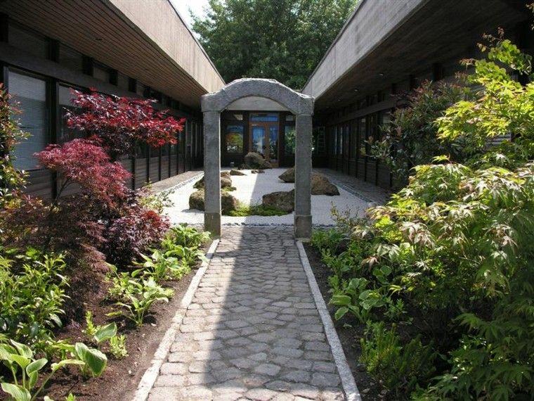 jardin zen con arco de piedra Jardn Pinterest