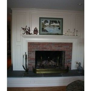 Thin Brick For Around Fireplace Red White Mantel Restyled Home