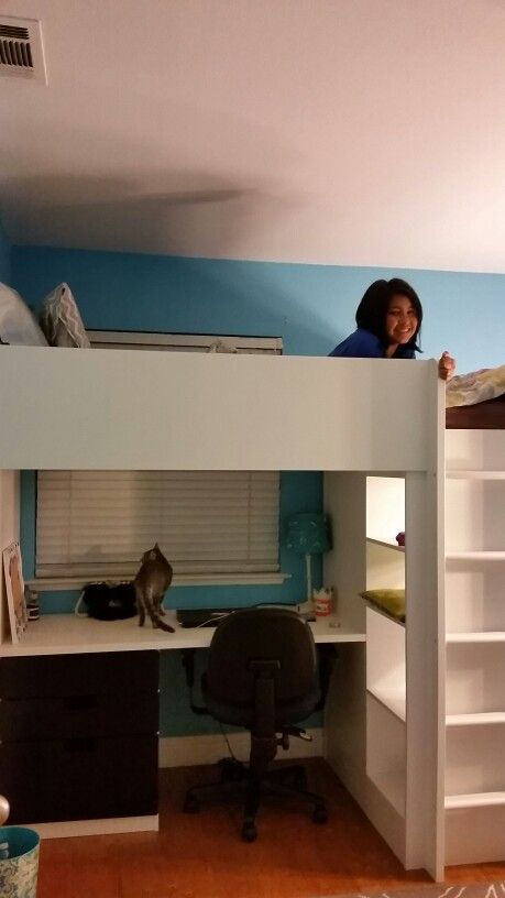 perfect ikea stuva loft bed she loves it the ladder is. Black Bedroom Furniture Sets. Home Design Ideas