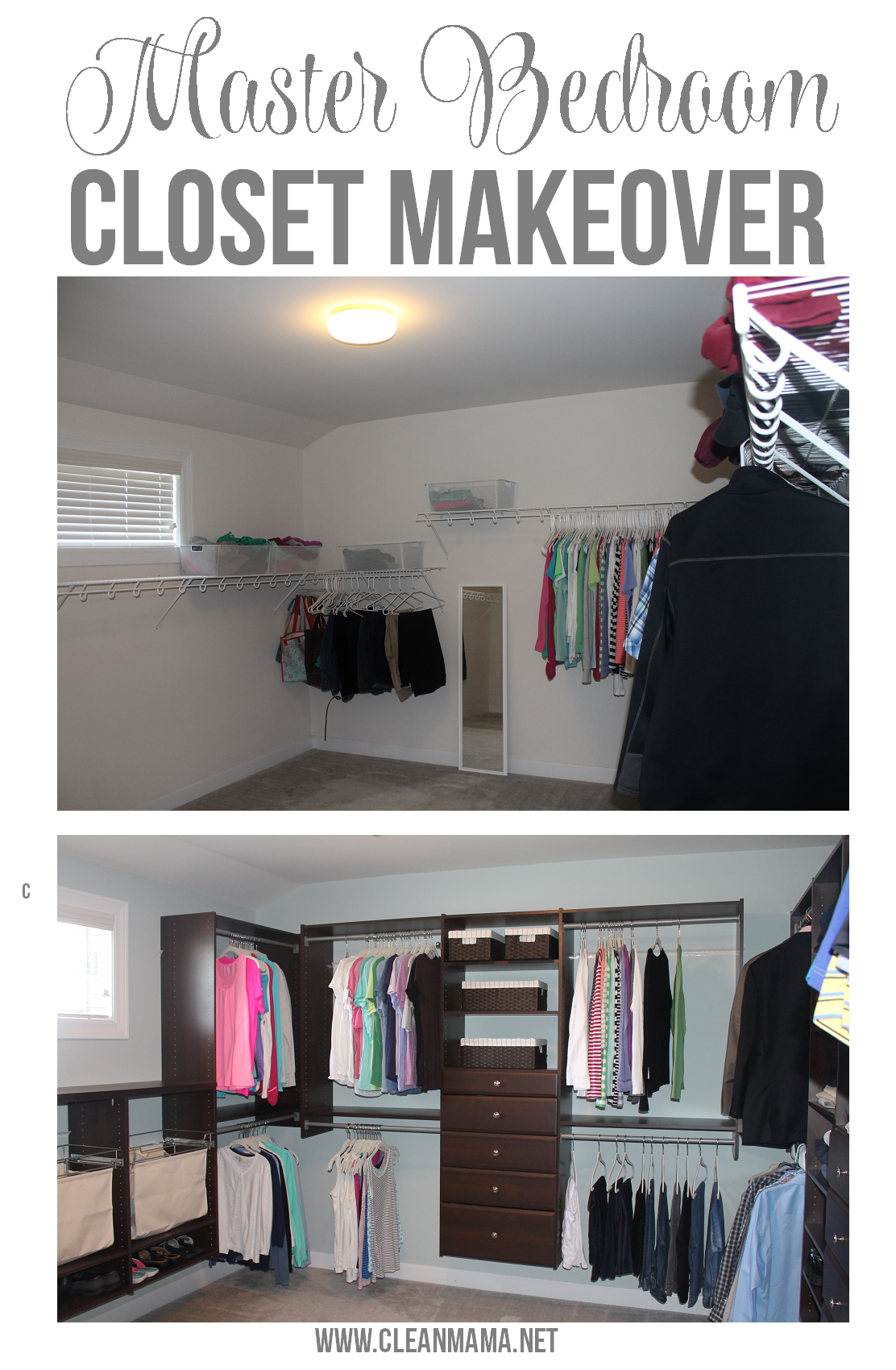 Martha Stewart Living Master Bedroom Closet Makeover is part of Organize bedroom Closet - I was asked to share a Martha Stewart Living at The Home Depot Closet System makeover on my blog and while our master bedroom closet system was fine, you can bet I agreed to install a Martha Stewart Living at The Home Depot Closet System! The process started with measuring out the closet and inputting the …