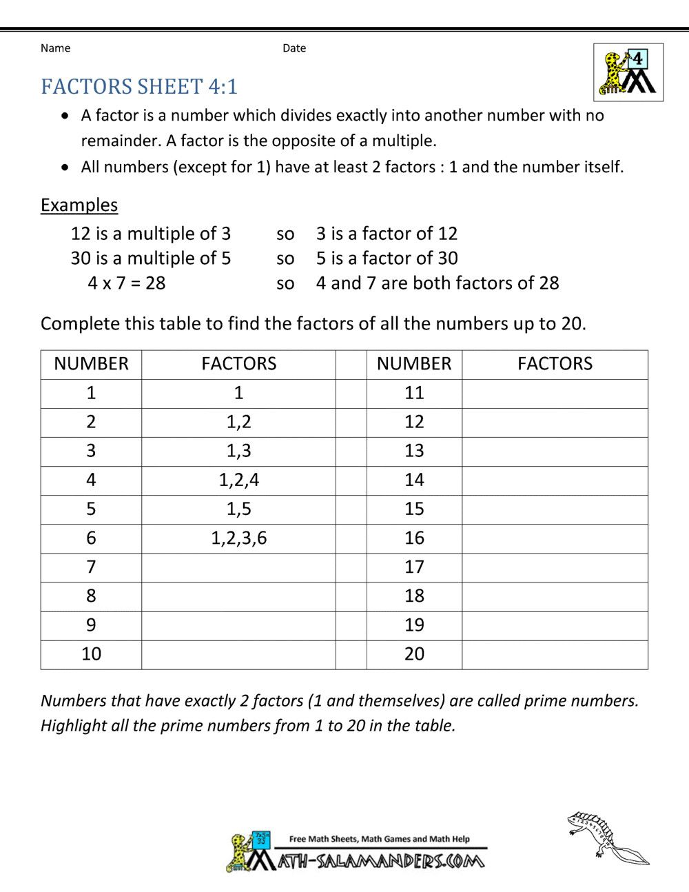2 Worksheets Greatest Common Factor 4th Grade Math Practice Multiples Factors And Inequalities Worksh In 2020 Math Practice Worksheets Math Practices Math Worksheets