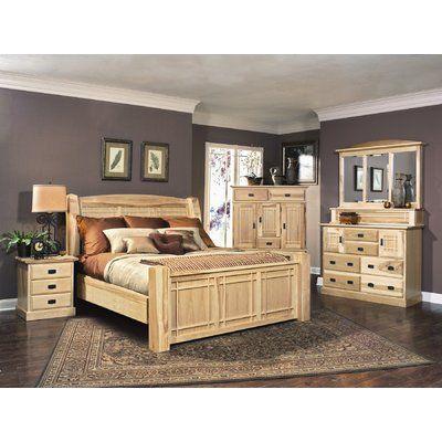 A America Amish Highlands Rectangular Dresser Mirror Top White Panel Bedroom Set Bedroom