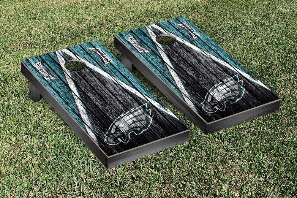 Philadelphia Eagles NFL Cornhole Boards Triangle Weathered Version ...