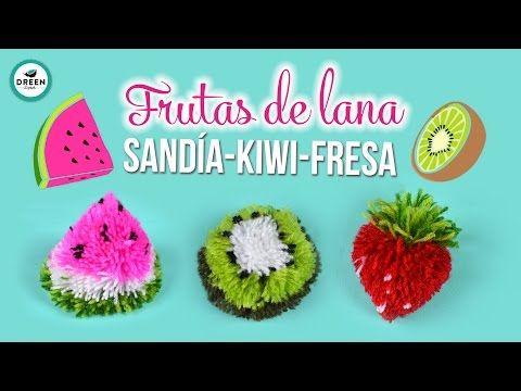 DIY Frutas de lana /Sandía Kiwi Fresa | JUEVES DE TUTODREEN - YouTube