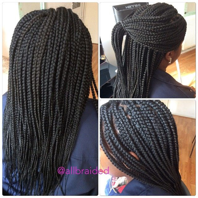 Medium Sized Box Braid On A Curly Natural Hair Client S First Time On Braids Hair Used Xp Natural Hair Styles Medium Sized Box Braids Braided Hairstyles Updo