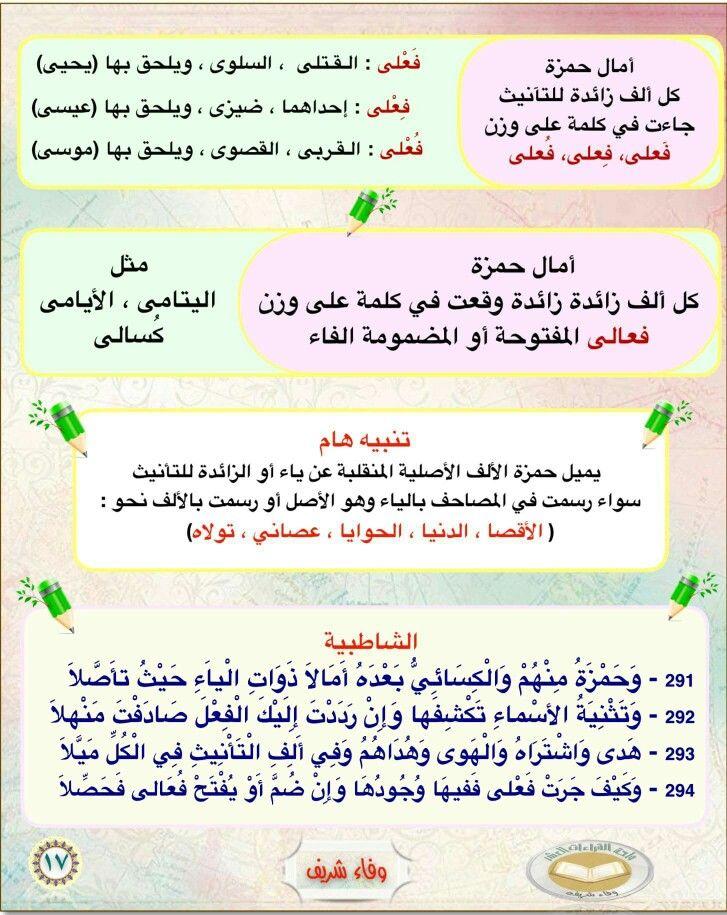 اصول قراءة حمزة من الشاطبية الامالة Words, Word search