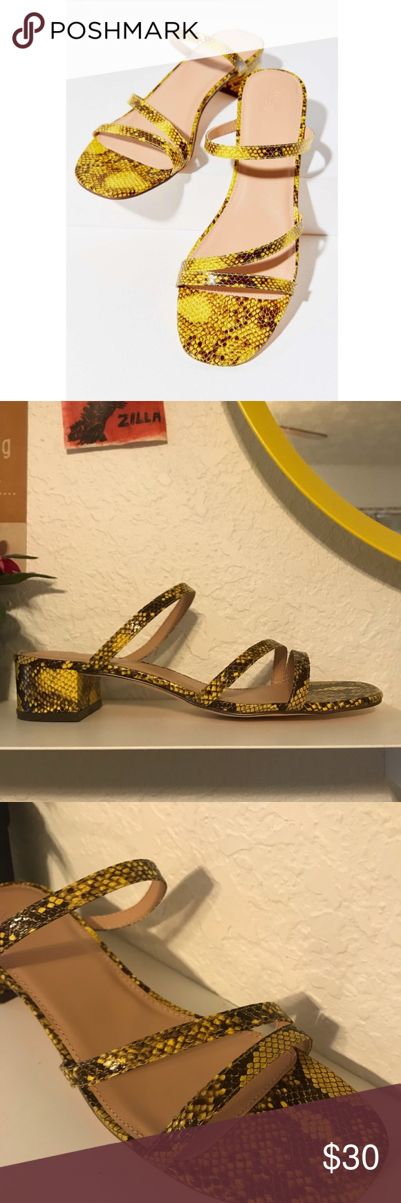 62df7e04a UO Claudia snake print strappy sandal Easy and chic
