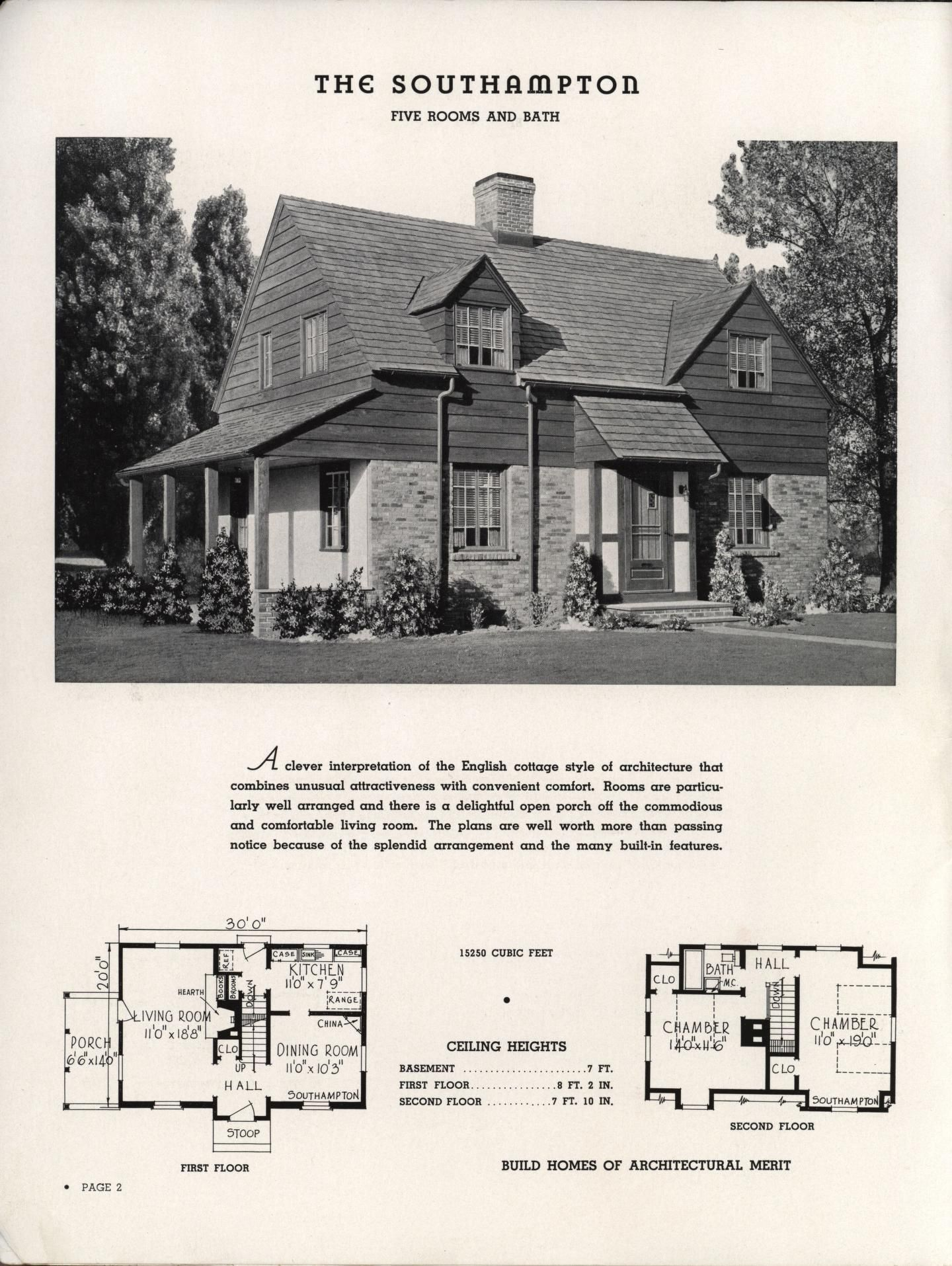 Select homes of moderate cost. | Interesting Houseplans | Pinterest