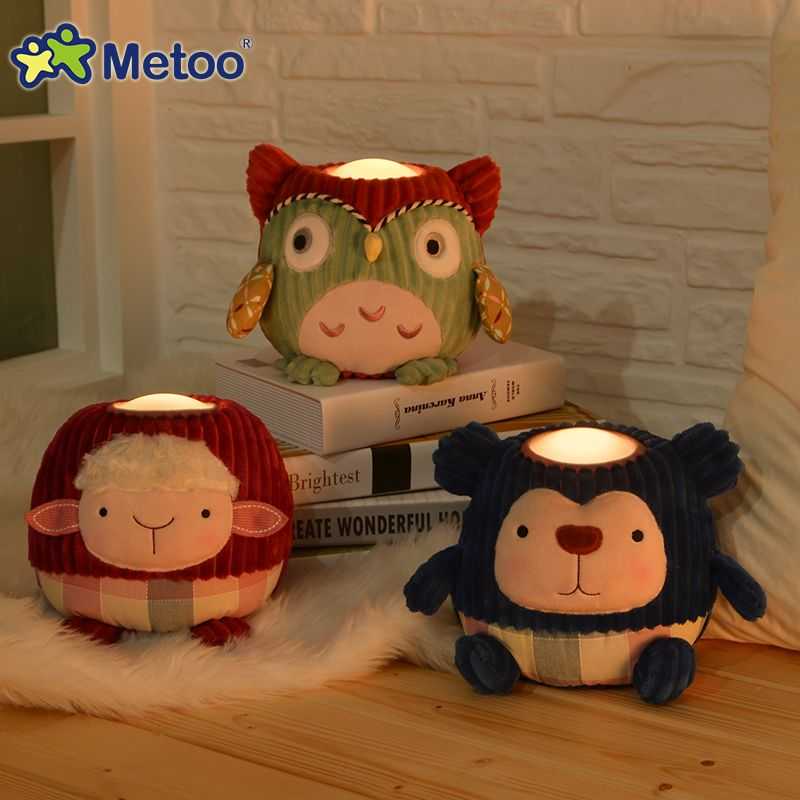 Compare Prices Metoo Plush Pat Led Night Light Toys Warm White Bedside Lamp Baby Child Gift Owl Sheep Pig Light Toys With Images Bear Toy Night Light Kids Pig Plush